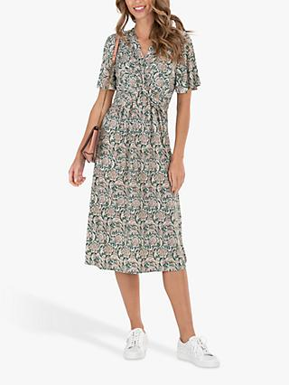 Jolie Moi Abstract Floral Dress, Green