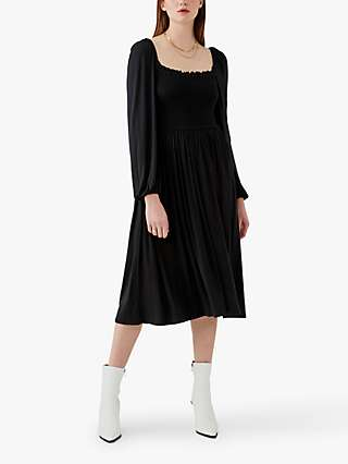 Ghost Penny Square Neck Dress, Black