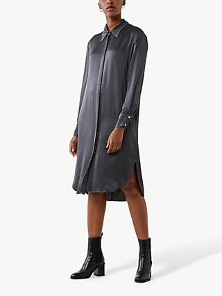 Ghost Christina Shirt Knee Length Dress, Iron Grey