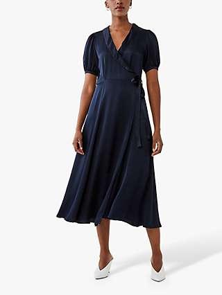 Ghost Opal Midi Dress, Navy