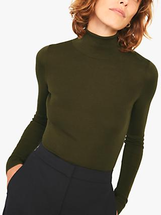 Jigsaw Silk Cotton Polo Neck Jumper
