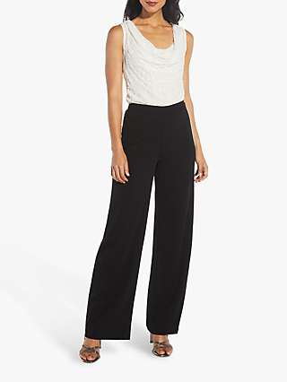 Adrianna Papell Pearl Stripe Tailored Trousers, Black