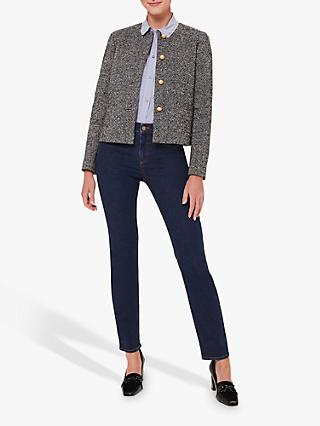 Hobbs Dana Wool Blend Textured Jacket, Grey