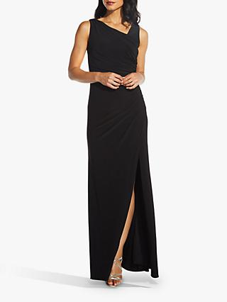 Adrianna Papell Sequin Back Dress, Black