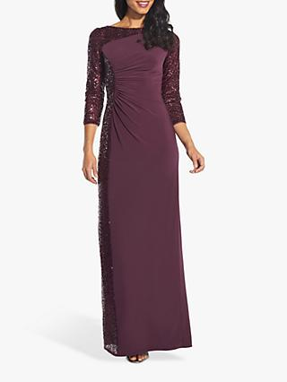 Adrianna Papell Sequin Jersey Dress, Oxblood