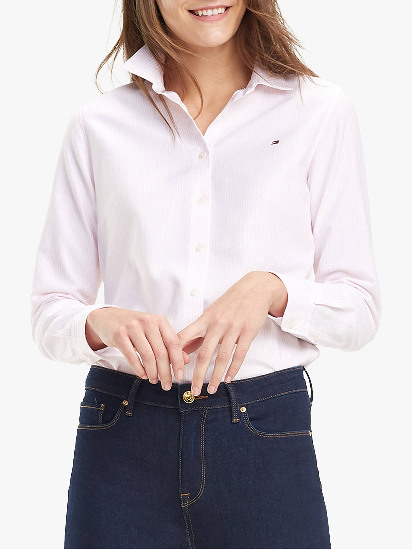 Buy Tommy Hilfiger Heritage Stripe Shirt, Ithaca/Cradle Pink, 20 Online at johnlewis.com
