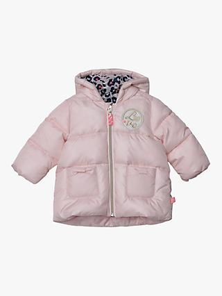 Billieblush Baby Hooded Zip Padded Jacket, Pale Pink