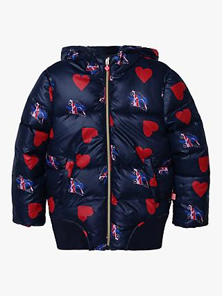 Billieblush Girls' Heart and Rollerblade Print Hooded Puffer Jacket, Unique