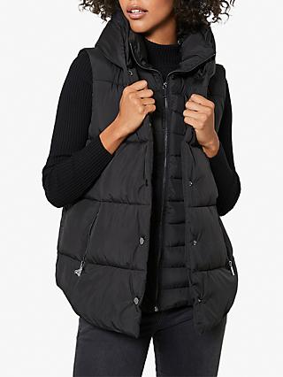 Mint Velvet Padded Gilet, Black