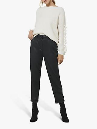Mint Velvet Tapered Trousers, Black