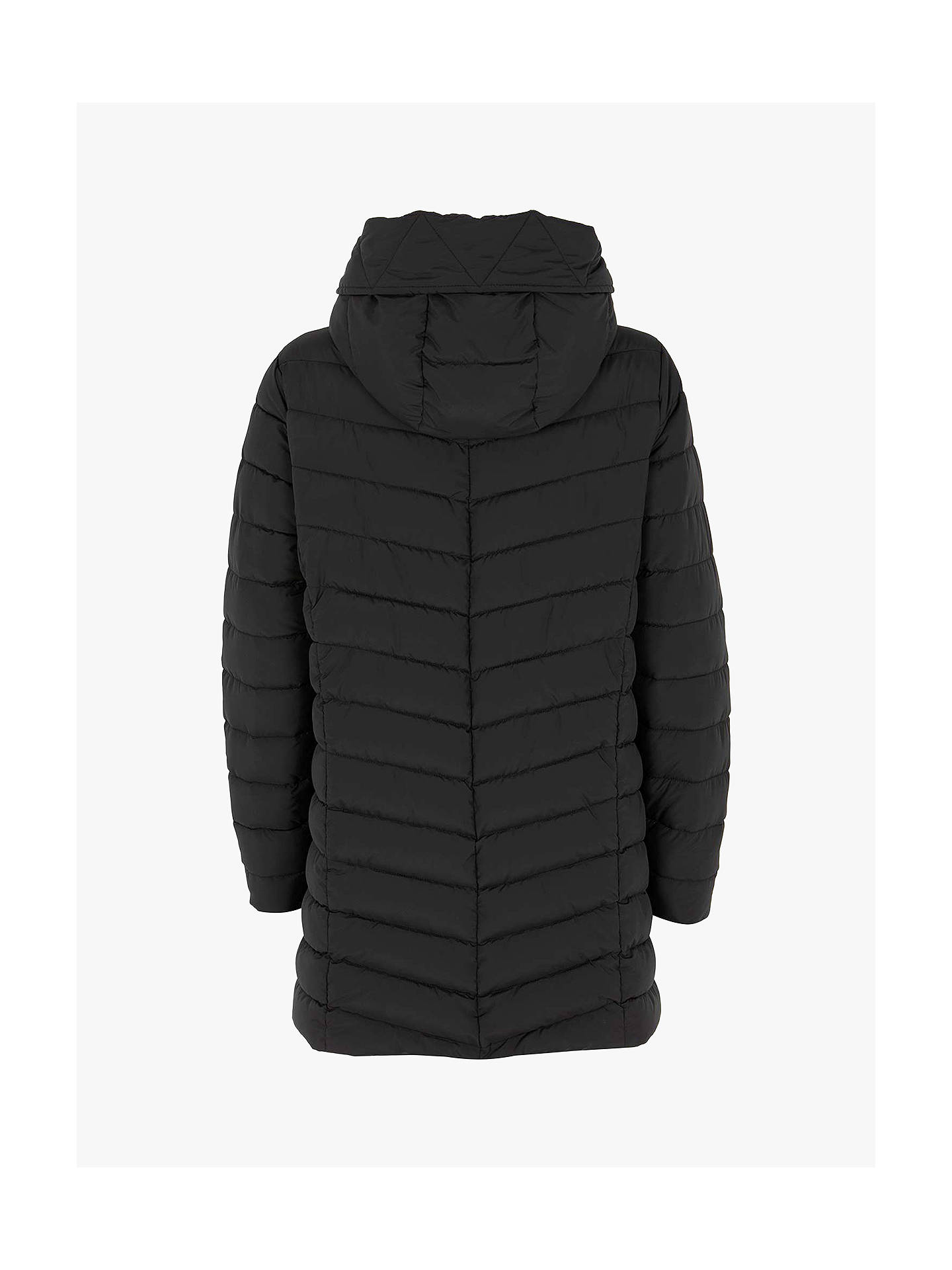 Buy Mint Velvet Padded Parka, Black, XS Online at johnlewis.com