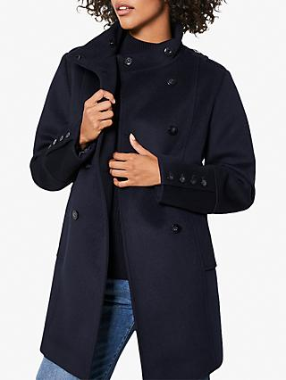 Mint Velvet Wool Coat, Navy