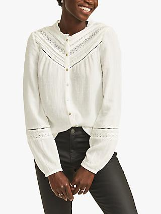 FatFace Julia Embroidered Blouse, Ivory