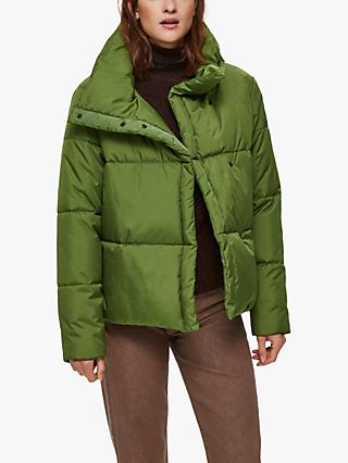 Selected Femme Addy Puffer Jacket, Lime