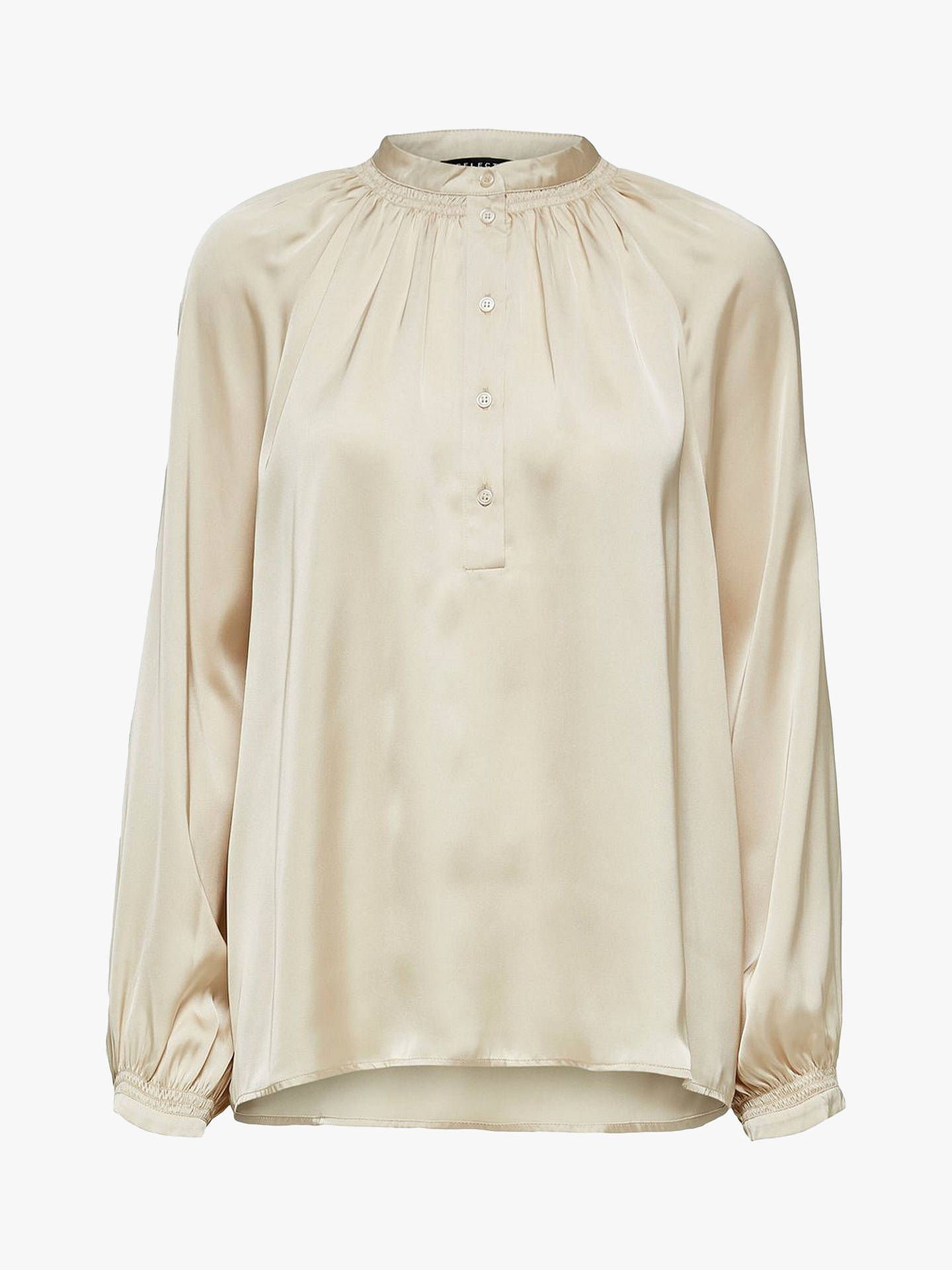 Buy Selected Femme Harmony Shirt, Cream, 8 Online at johnlewis.com
