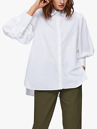 Selected Femme Holly Puff Sleeve Shirt, White