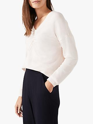 Phase Eight Ruched Front Sweat Top, Soft Pink