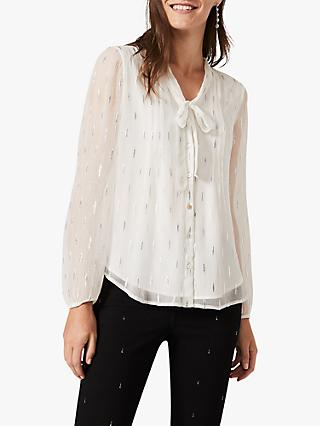 Phase Eight Delila Shimmer Blouse, White