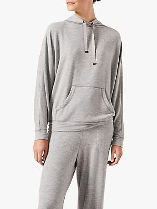 Phase Eight Hooded Sweat Top, Grey Marl