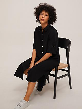 Mother of Pearl Tencel™ Poplin Shirt Dress, Black