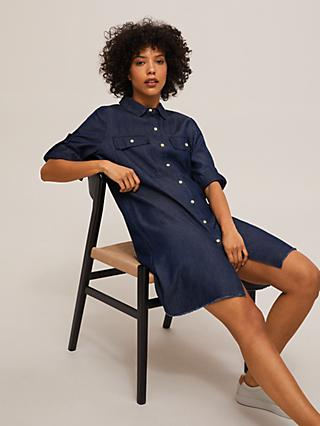 Mother of Pearl Tencel™ Soft Denim Shirt Dress, Blue