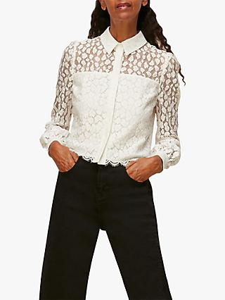 Whistles Animal Lace Print Shirt, Ivory