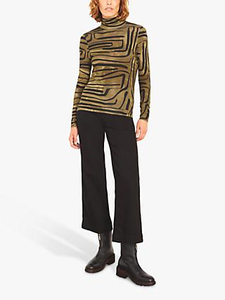 Jigsaw Linear Lines Polo Top, Reed