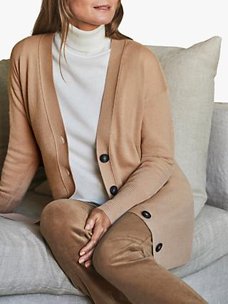 Pure Collection Cashmere Cardigan, Caramel