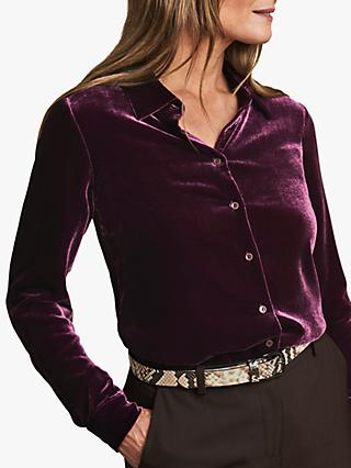 Pure Collection Silk Velvet Shirt