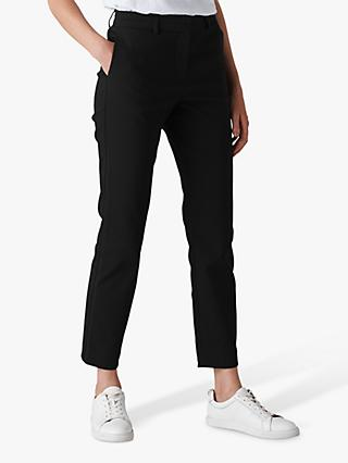 Whistles Sadie Slim Leg Trousers, Black