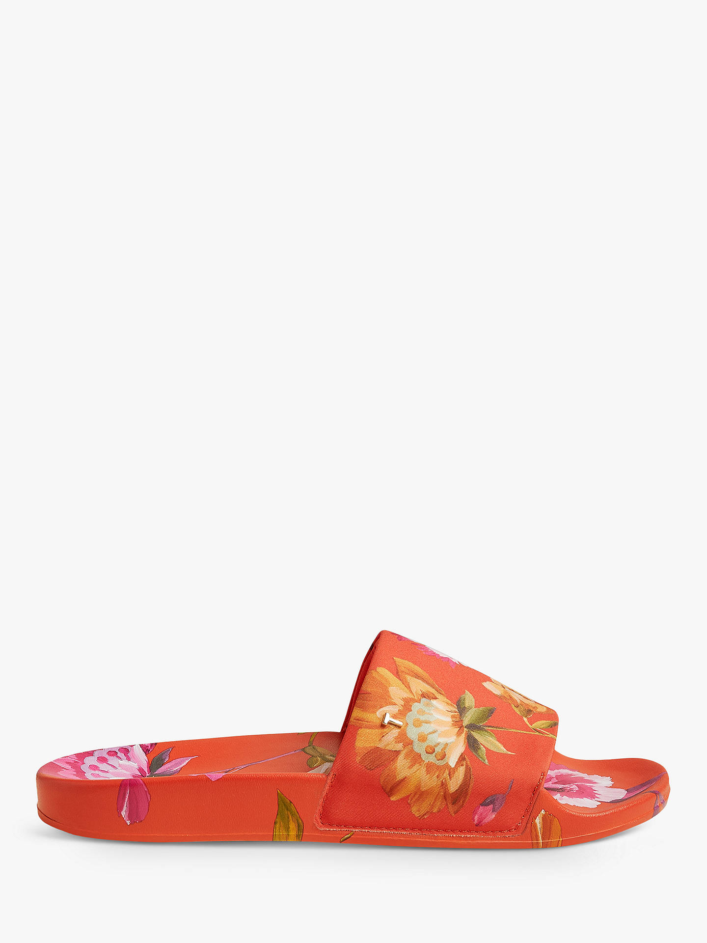 Buy Ted Baker Lamali Floral Sliders, Orange, 3 Online at johnlewis.com