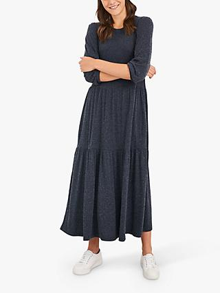 White Stuff Atlantic Midi Dress, Mid Blue