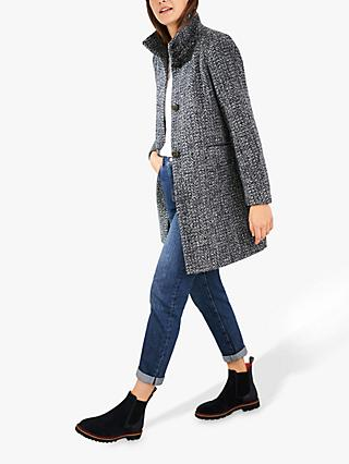 White Stuff Kenley Wool Blend Coat, Dark Navy