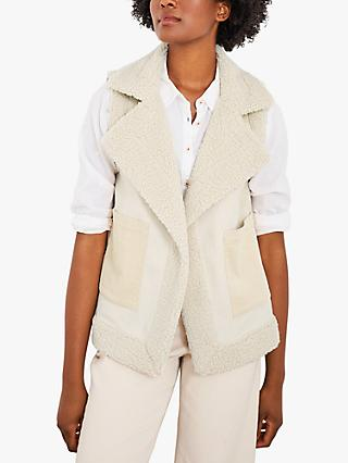 White Stuff Budley Borg Gilet, Cream