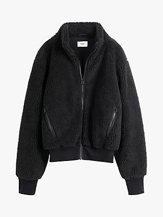 hush Nari Textured Bomber Jacket, Black