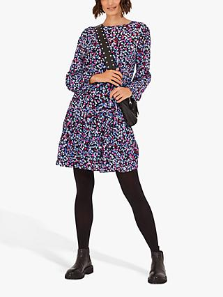 hush Zelie Tiered Confetti Print Dress, Multi