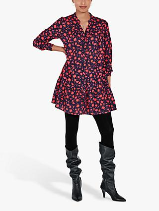 hush Malia Floral Shirt Dress, Multi