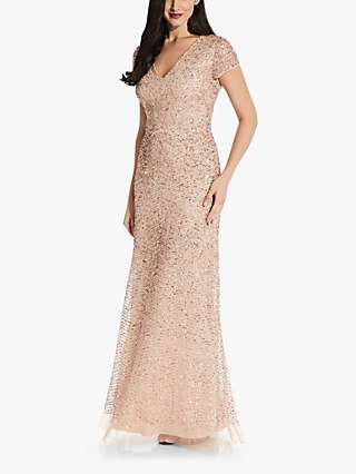 Adrianna Papell Beaded Maxi Dress, Blush