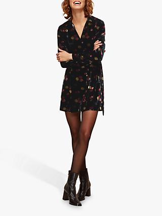 Whistles Flowerpod Mini Dress, Black/Multi