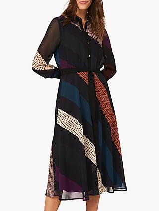 Phase Eight Chantilly Graphic Print Shirt Dress, Multi