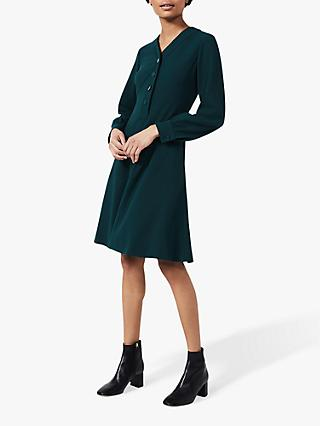 Hobbs Lillian Knee Length Dress, Leaf Green
