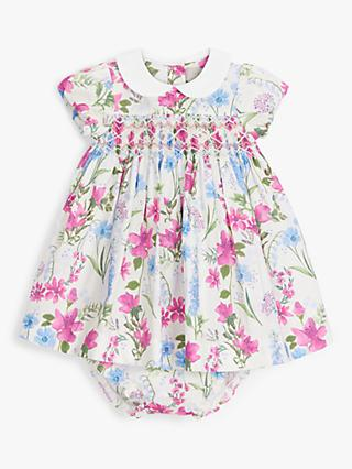 John Lewis & Partners Heirloom Collection Baby Meadow Floral Dress and Knicker Set, Multi