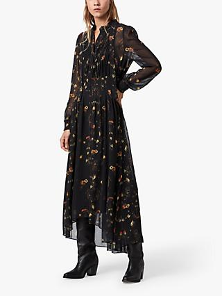 AllSaints Pippa Boho Maxi Dress, Black/Multi