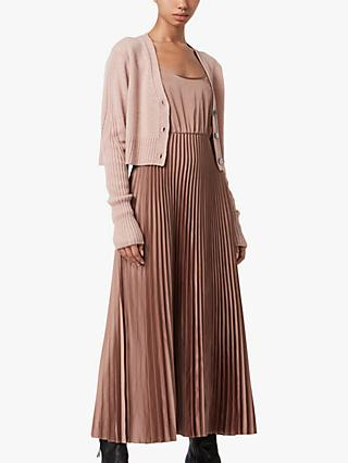 AllSaints Andrea Pleated 2-in-1 Dress
