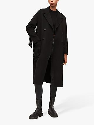 AllSaints Freya Wool Blend Coat, Black