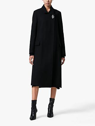 AllSaints Elin Wool Blend Coat, Black