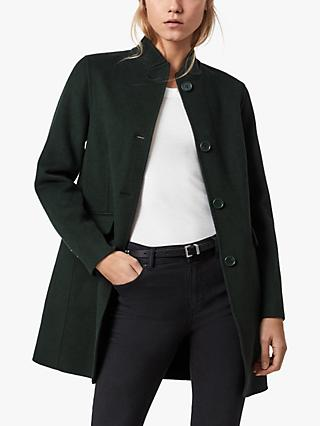 AllSaints Maya Wool Blend Coat, Bottle Green