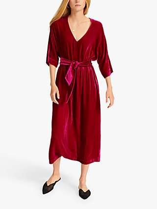 NRBY Zaza Silk Blend Velvet Midi Dress
