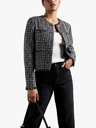 Ted Baker Klaudi Tweed Blazer, Black