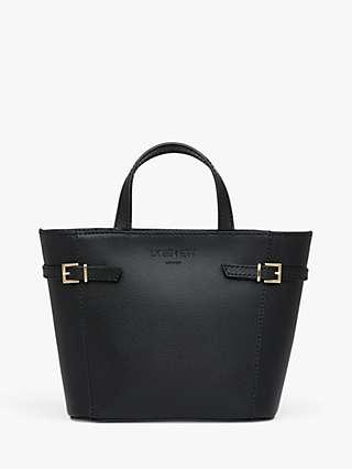 L.K.Bennett Mini Liberty Leather Tote Bag, Black